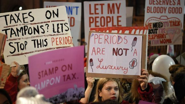 Period poverty - a protest last year