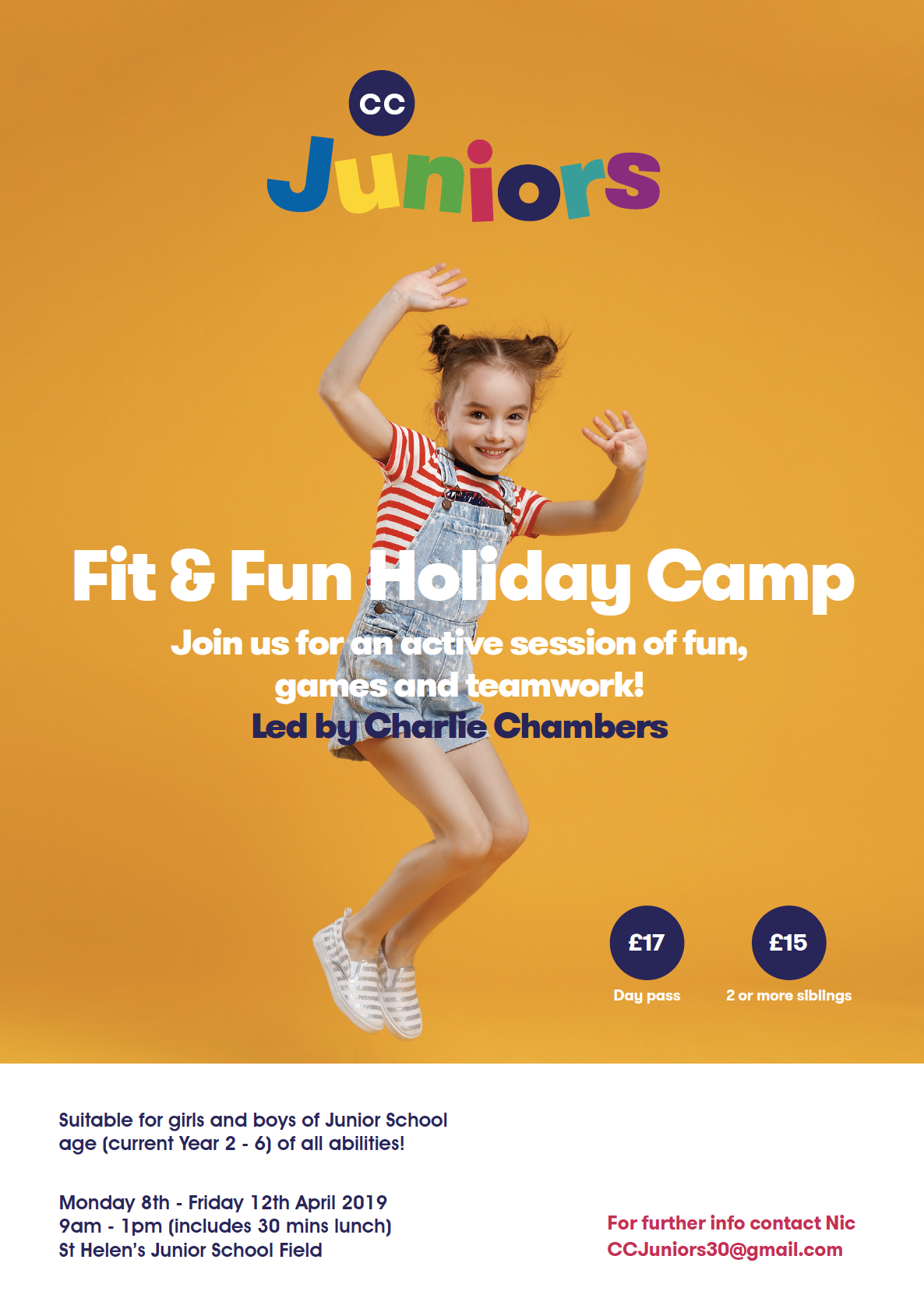 CC JUNIORS FIT & FUN EASTER HOLIDAY CAMP