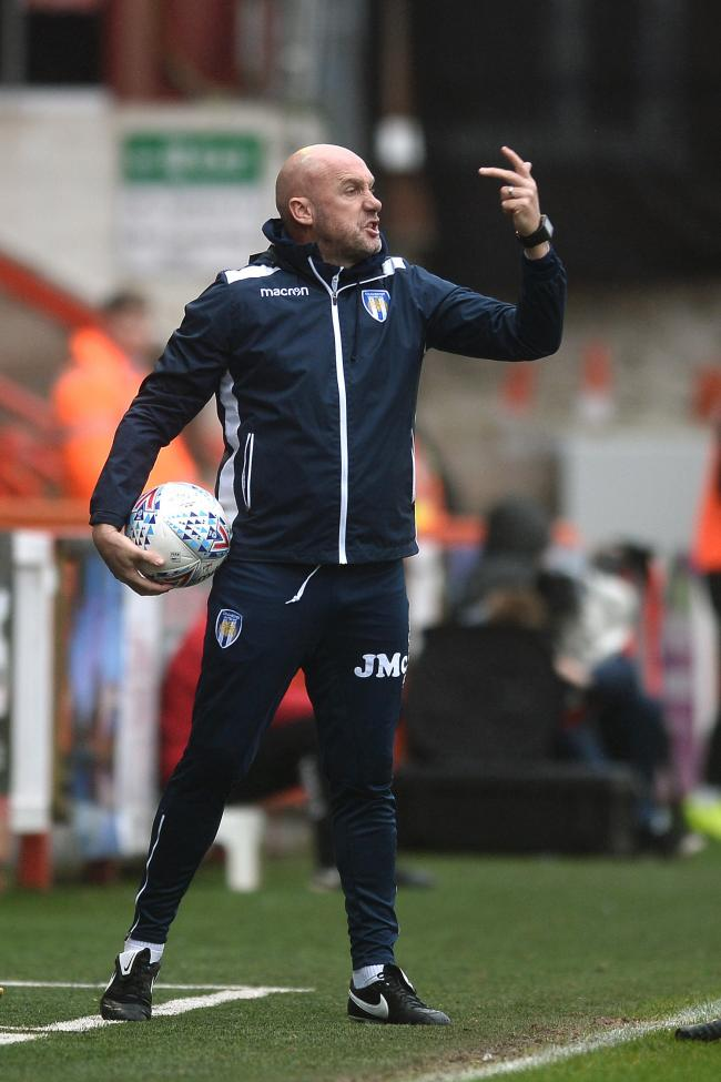 Enjoy the big occasion - Colchester United head coach John McGreal Picture: Richard Blaxall
