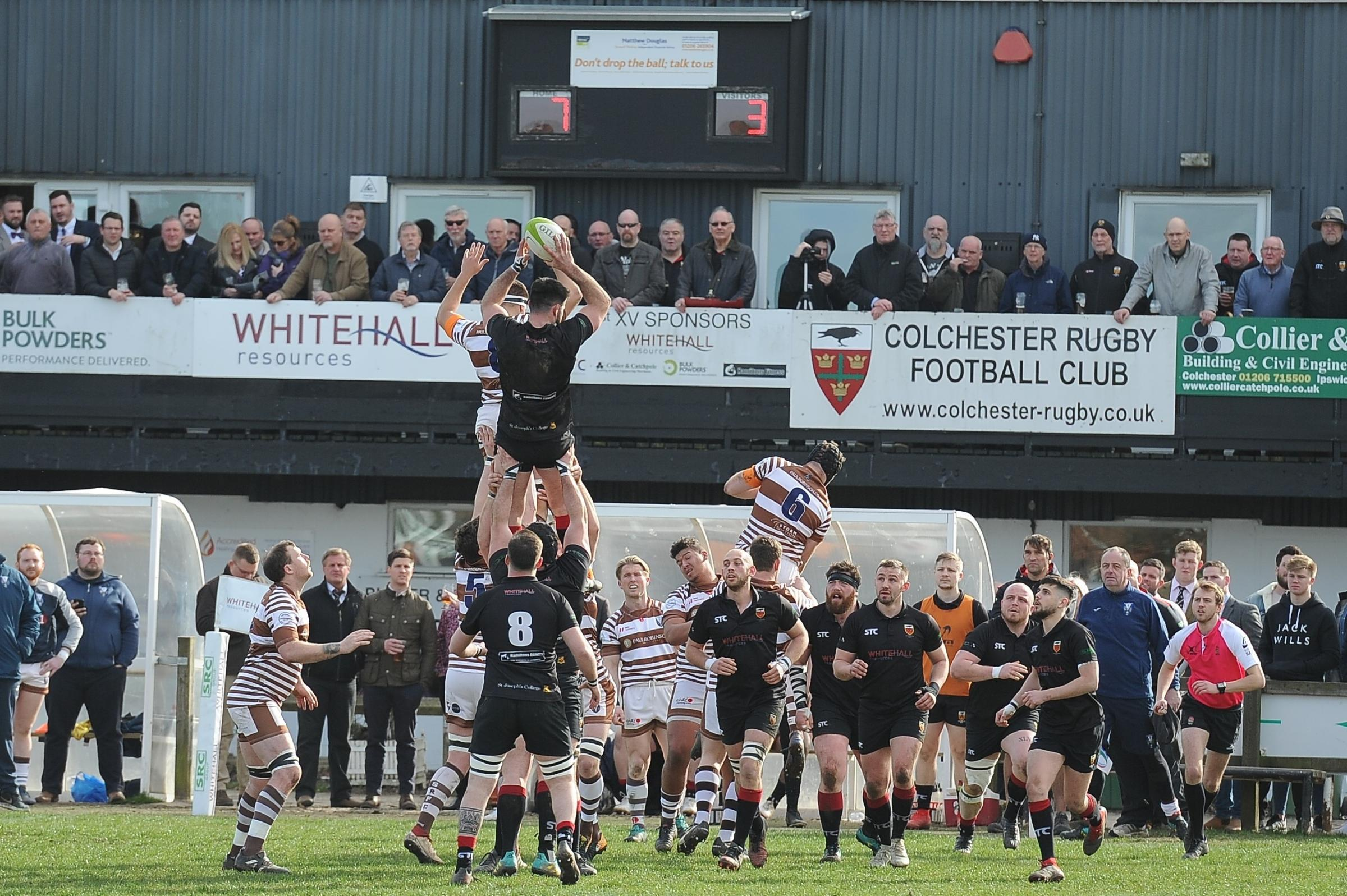 Oly Pickett secures the line out ball. Picture: Picaxis Photography