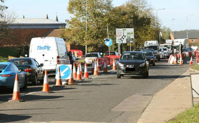 Nightmare delays across town's roads as next stage of roadworks scheme kicks off