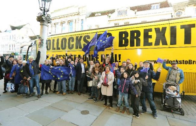 Brexit Bus in Colchester