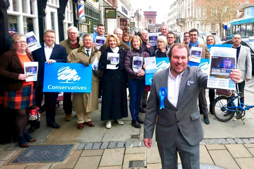 Unveiled - the launch of the Conservative manifesto yesterday