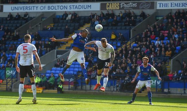 Two-goal hero Collin Quaner, in action at the University of Bolton Stadium