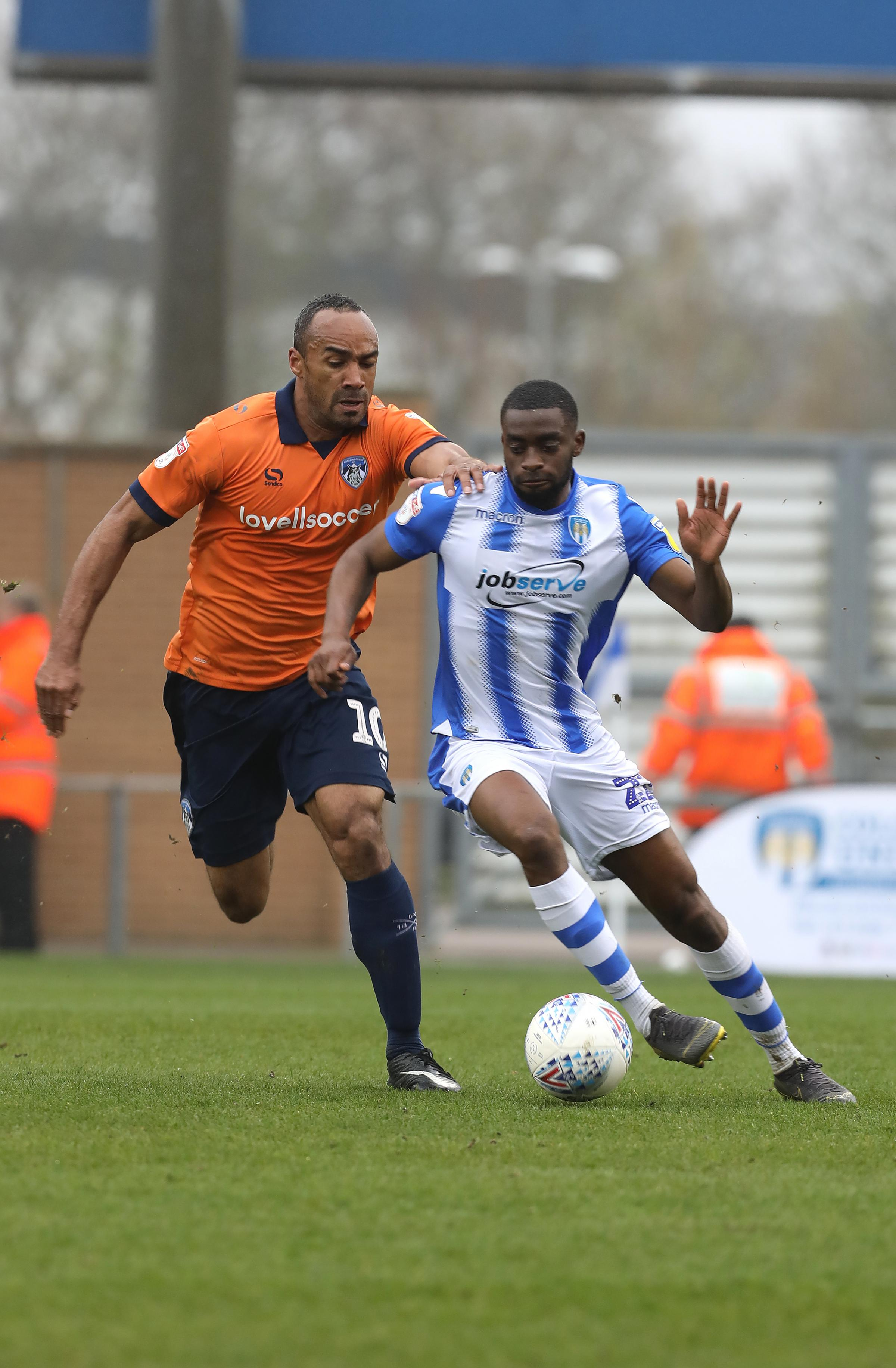 Sidelined - Colchester United defender Kane Vincent-Young missed the 1-1 draw with Yeovil Town because of a abdominal injury Picture: STEVE BRADING