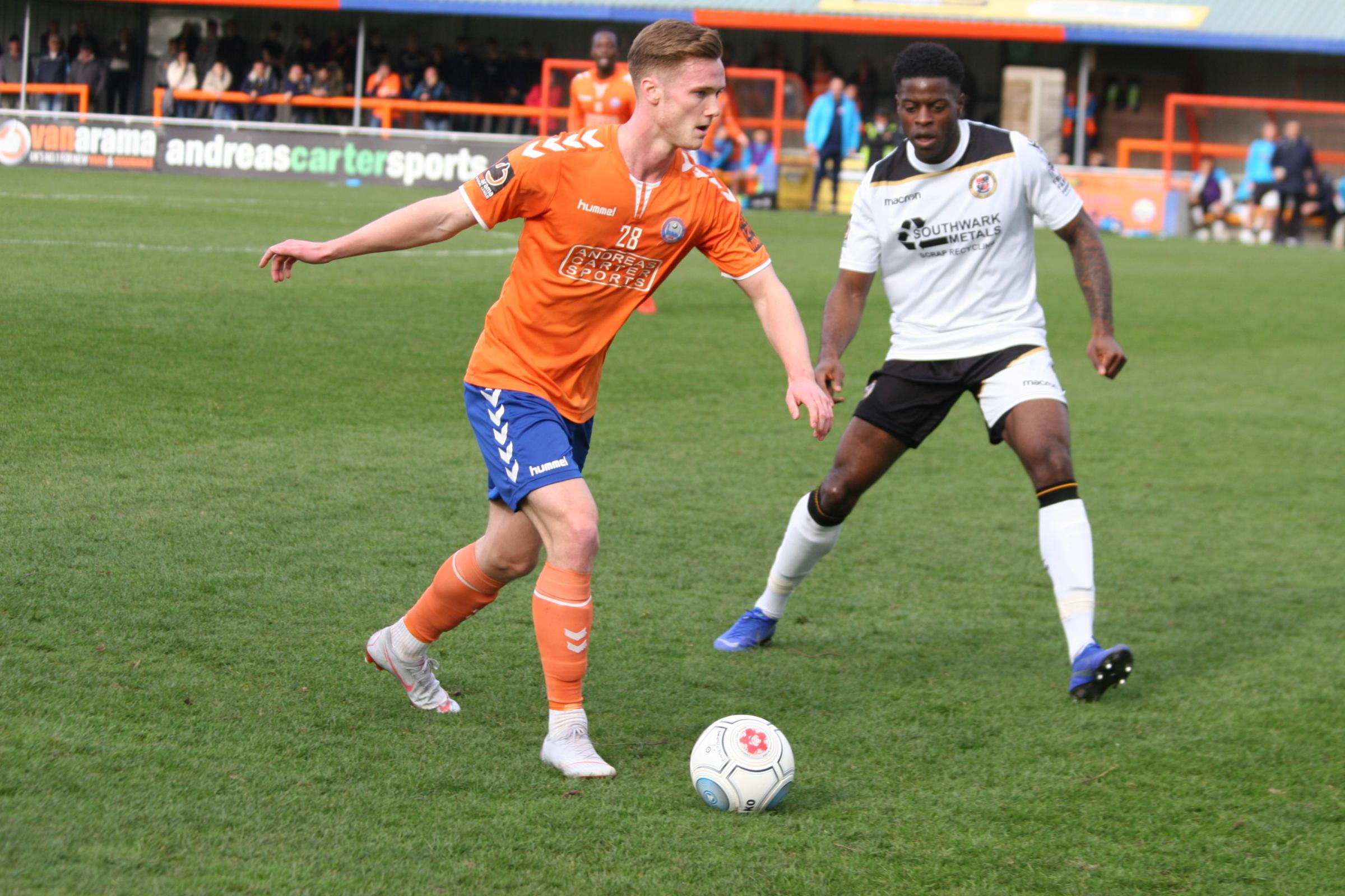 Experience - Colchester United youngster Cameron James has spent the season on loan at Braintree Town Picture: JON WEAVER