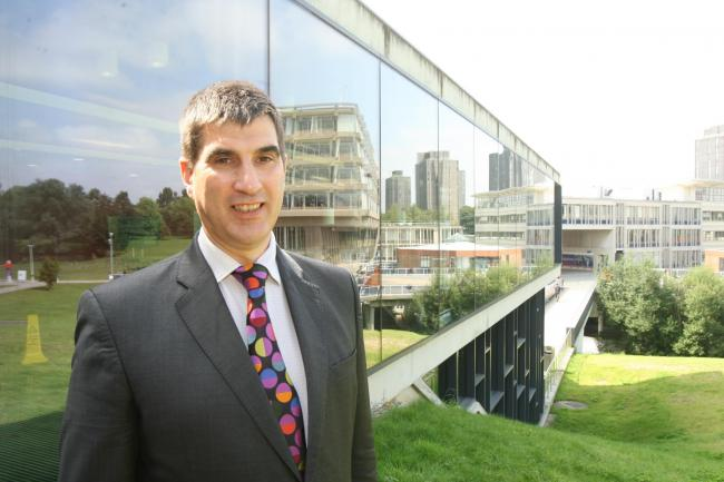 Essex University.new vice chancellor Anthony Forster.9/8/2012..