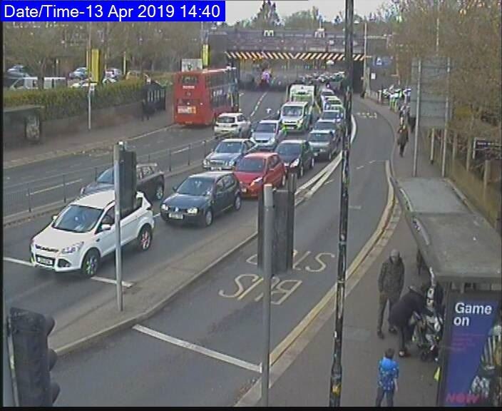 All approaches onto the Turner Road and North Station Roundabouts are currently moving slowly Photo: Essex Travel News