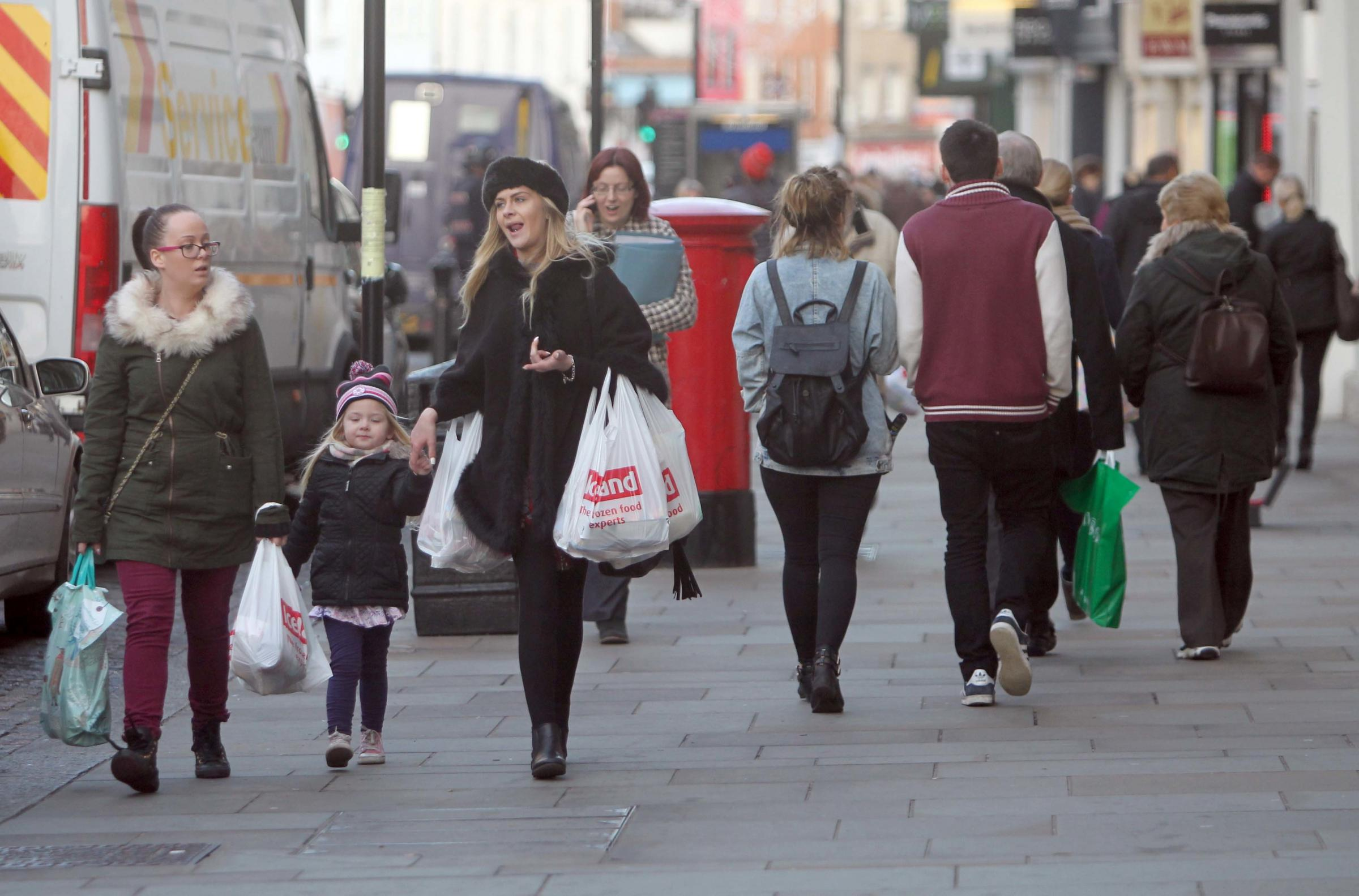 Shoppers in Colchester Town Centre