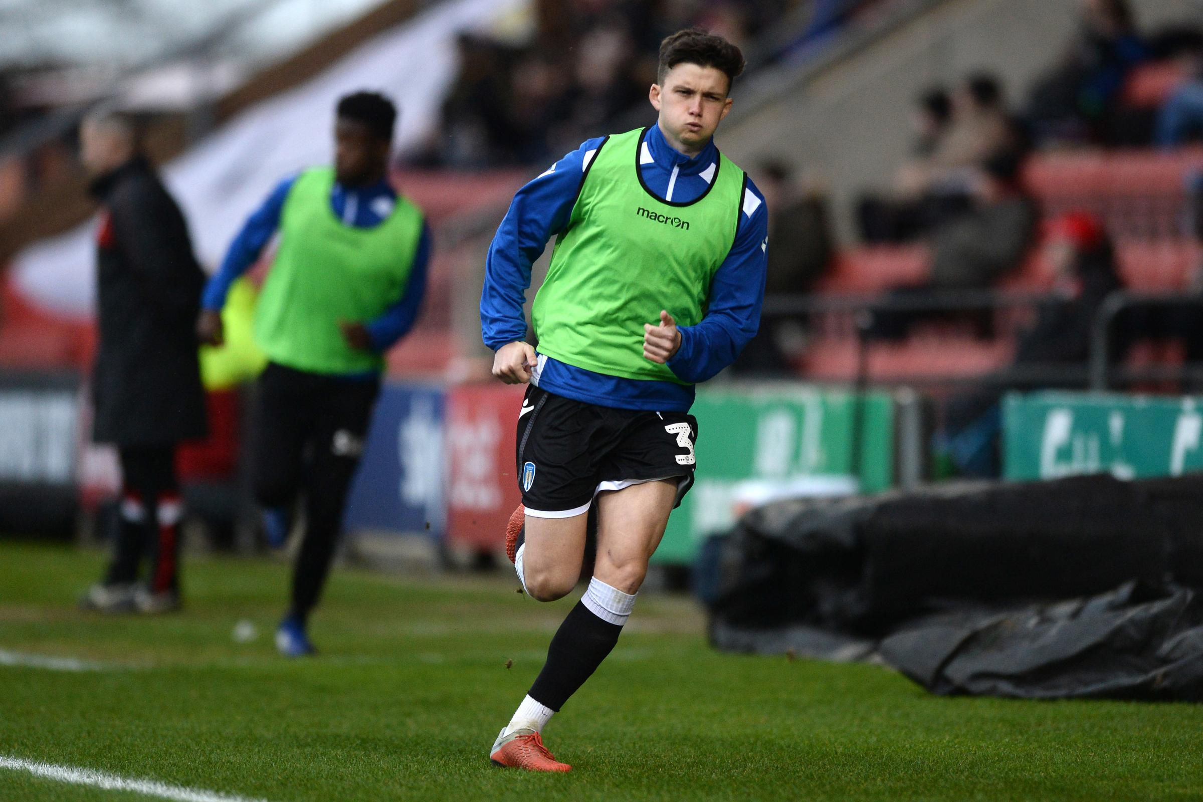 Back in the fold - Colchester United midfielder Louis Dunne played 45 minutes for the under-23s last night Picture: RICHARD BLAXALL