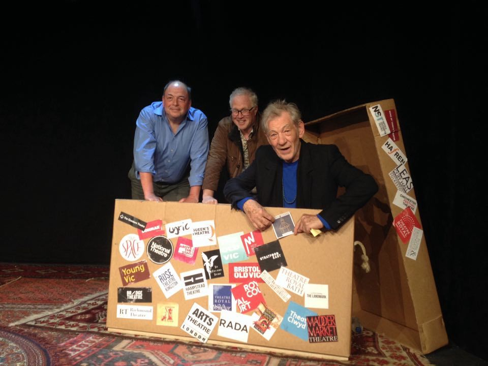 Sir Ian McKellen with Frinton Summer Theatre's Clive Brill and Richard Max
