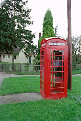Classic - an iconic red phone box is up for auction