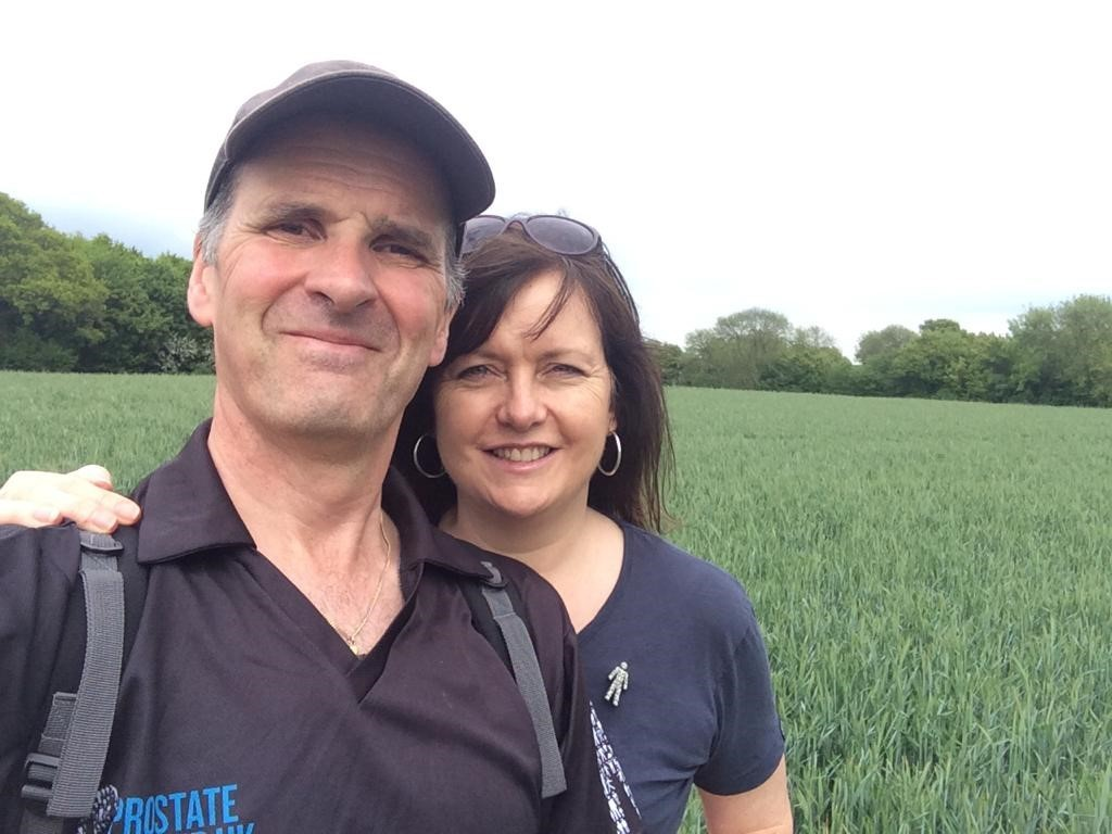 Challenge - husband and wife Ian and Angela Hornett are joining Sky Sports Jeff Stelling's March for Men