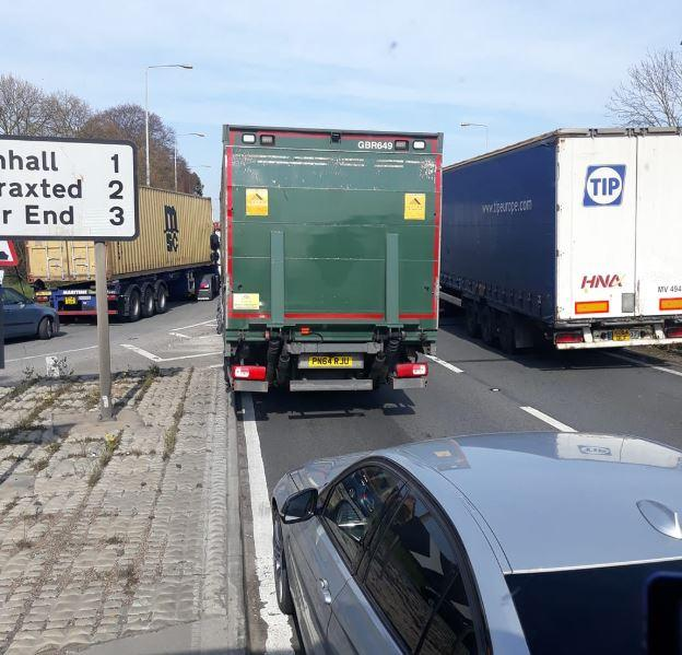 A12 partially blocked at Rivenhall after crash | Gazette
