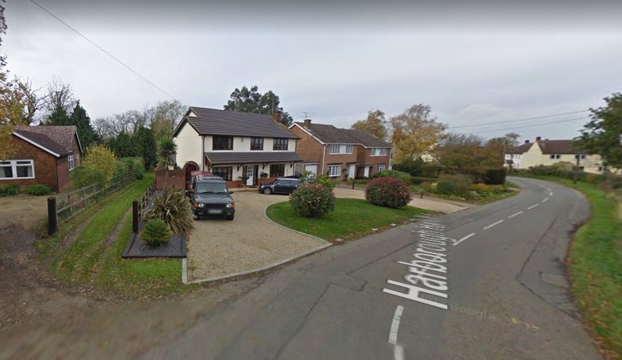 Harborough Hall Lane, Messing. Photo from Google Maps