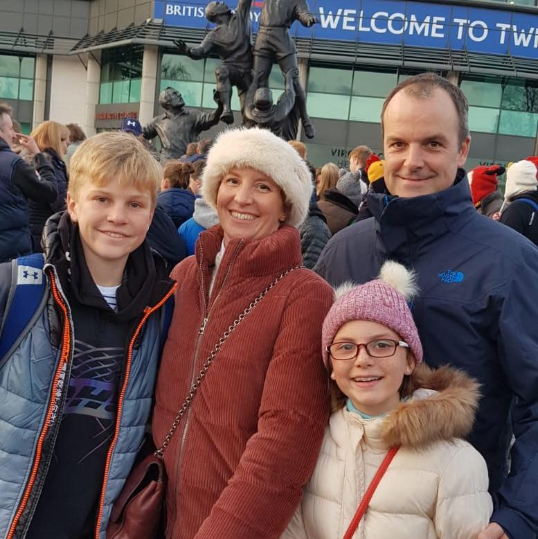 Loving - the Nicholson family outside Twickenham