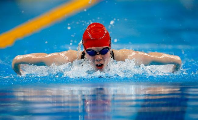 BAKU, AZERBAIJAN - JUNE 23:  Laura Stephens of Great Britain competes in the Women's 200m Butterfly during day eleven of the Baku 2015 European Games at the Baku Aquatics Centre on June 23, 2015 in Baku, Azerbaijan.  (Photo by Jamie Squire/Getty Image