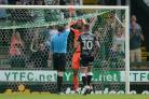 Flashpoint - Colchester United keeper Dillon Barnes is sent off at Yeovil Town Picture: RICHARD BLAXALL