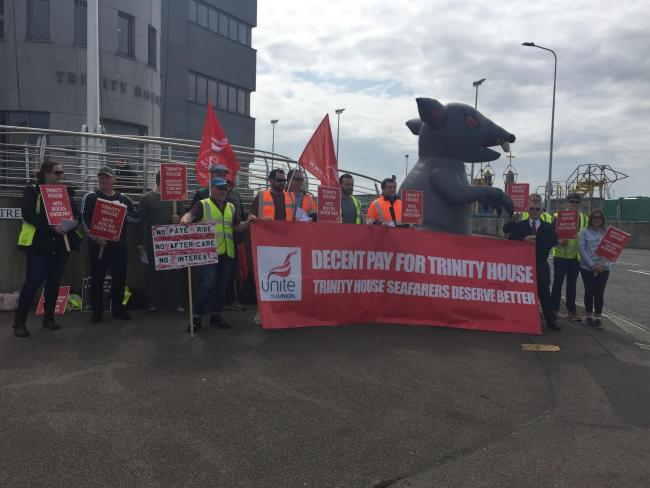 Seafarers Stand United In Trinity House Protest In Harwich