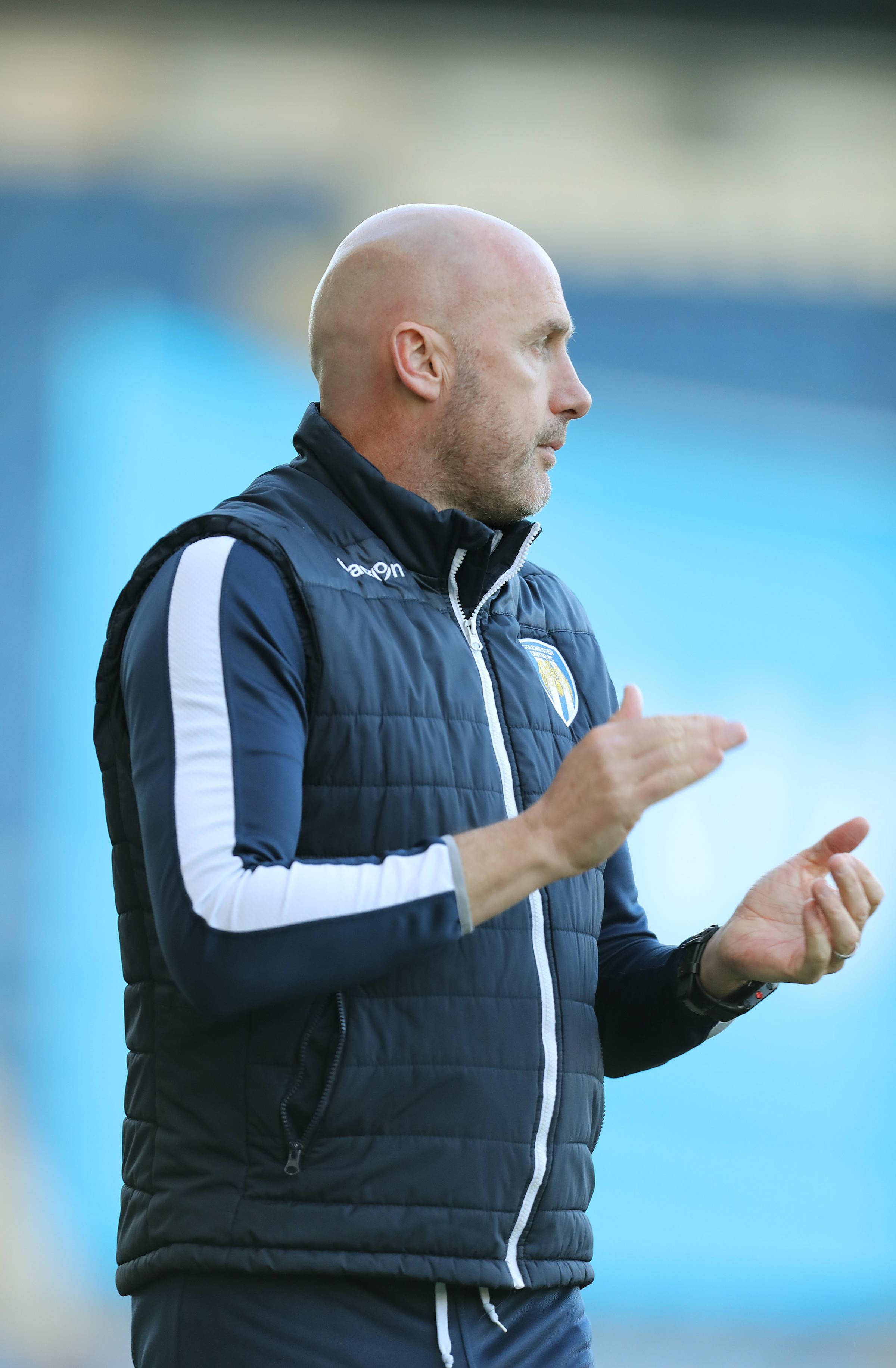 Big occasion - Colchester United head coach John McGreal is looking forward to his side's game against MK Dons Picture: STEVE BRADING
