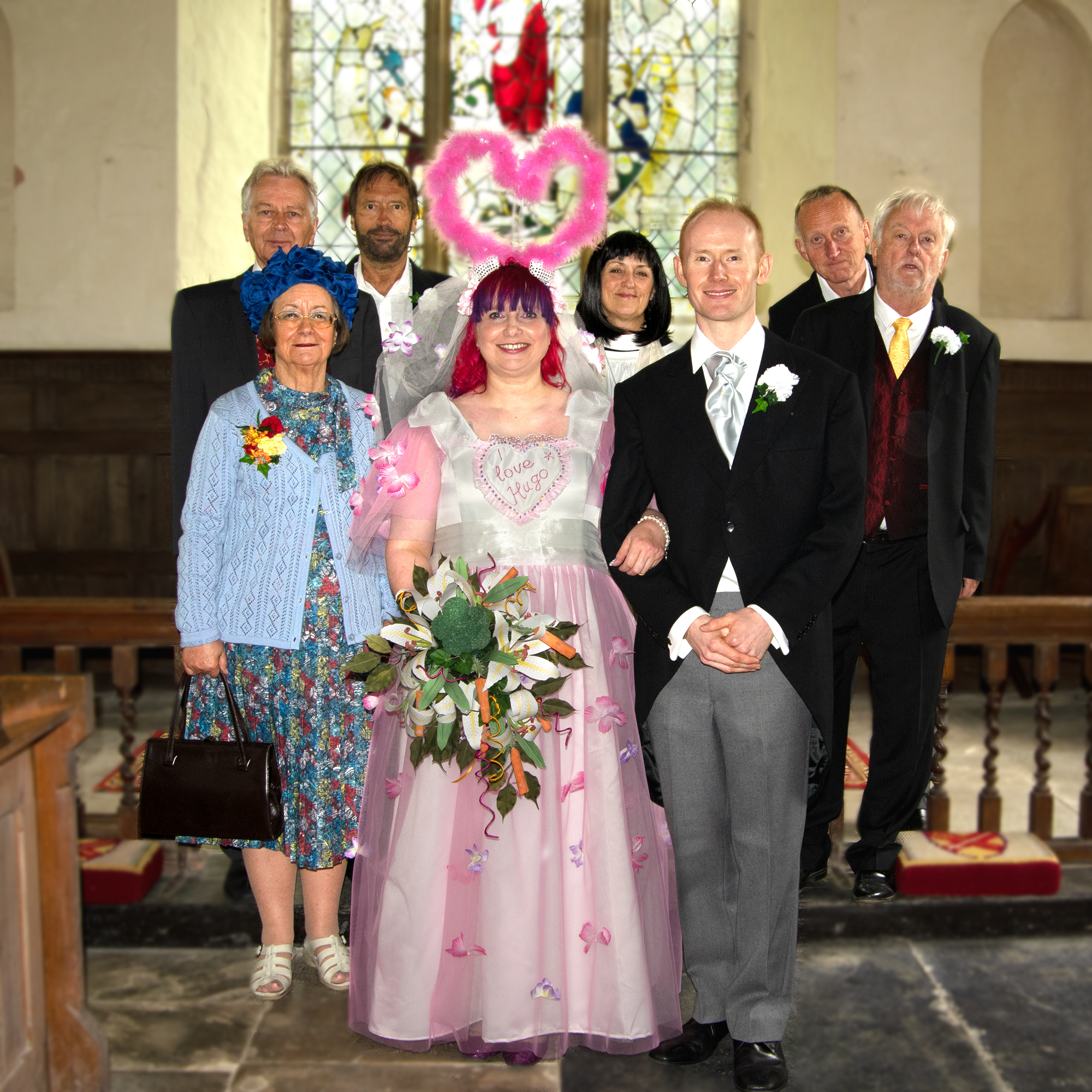 Cast of Vicar of Dibley at Old St Mary's Church, West Bergholt Picture by Catherine Streatfield