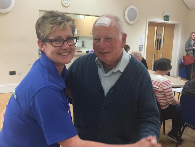 Dancing - service manager Jayne Hare with Philip Pepperell