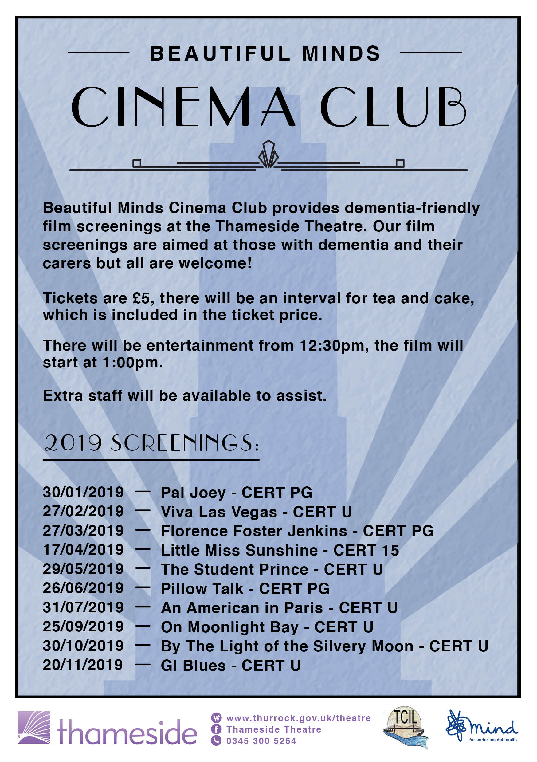 Beautiful Minds - Demetia Friendly Cinema Club