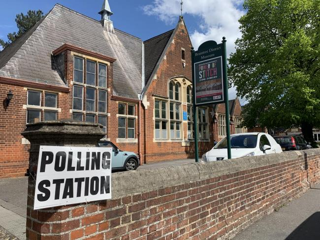 A polling station at Braintree Museum
