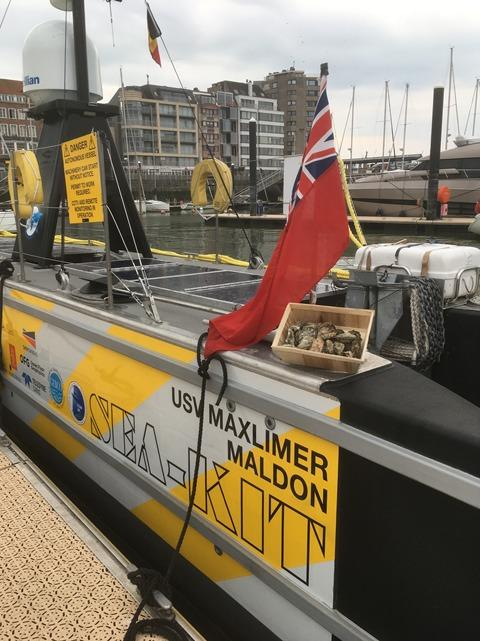 Ahoy - the Sea-Kit vessel took on the mission to carry the oysters to Belgium