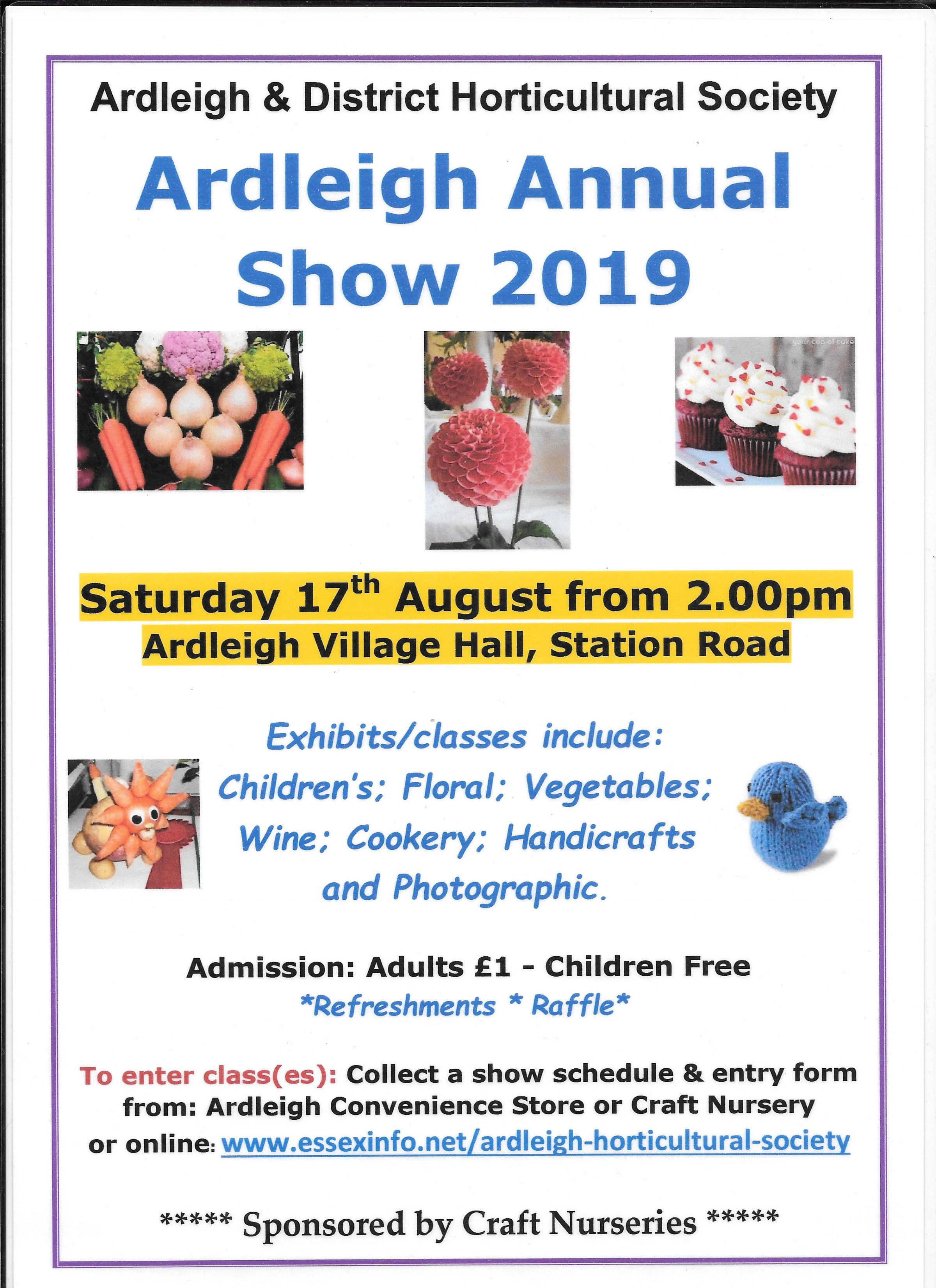 Ardleigh & District Horticultural Society Annual Show