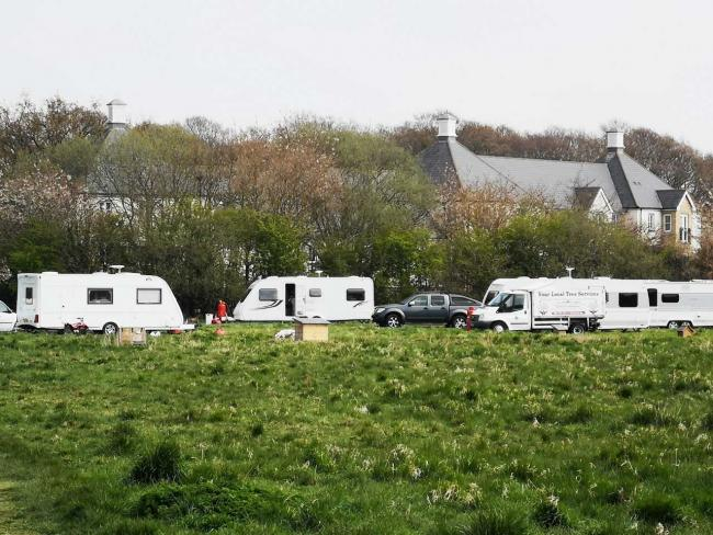 Travellers in Squirrels Field, Colchester