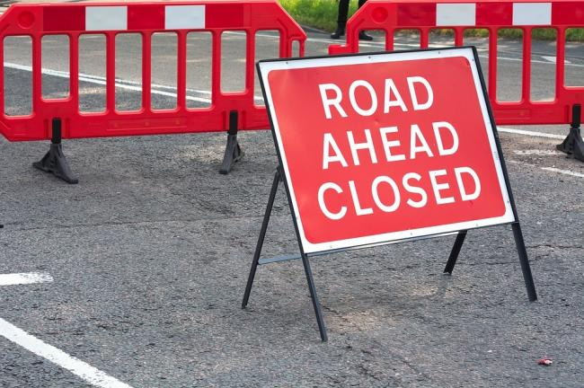 Layer Road closed for 2 weeks