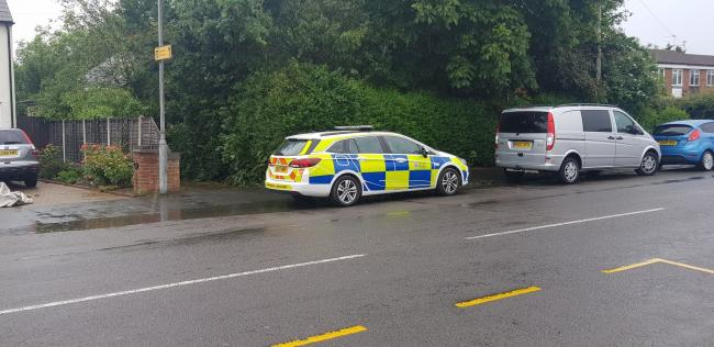 Search - police were in London Road, Copford, for two days after the guns were found