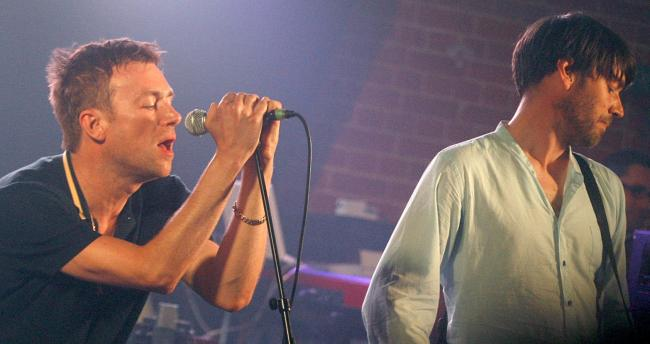 Blur gig at Chappel Railway Museum in 2009